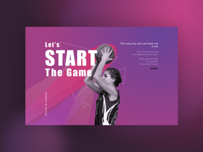 Let's Start the Game! Hello, dribbble!