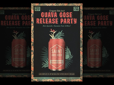 Guava Gose Release Party tropical party beer poster