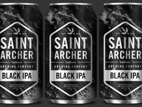 Saint Archer Black IPA Beer Can
