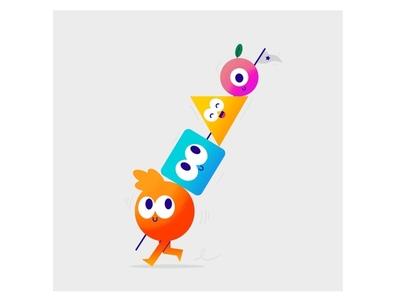 Kuler Kebab (edit) flag color kebab food app vector thecamiloes design character illustration