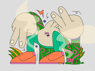 Peace Please leaves abstract color character design colors baggie procreate thecamiloes design character illustration