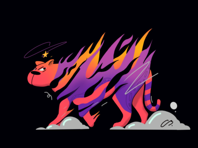 A ring of fire tiger fire character design abstract color colors procreate thecamiloes design character illustration