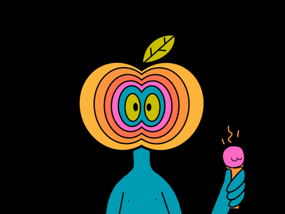 heatwave wave heat apple ipad color character design music colors procreate design character thecamiloes illustration