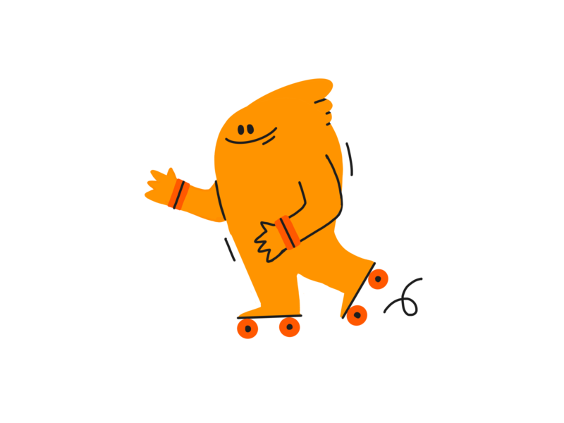Rolley roller skate skating skate character design music colors procreate design character thecamiloes illustration