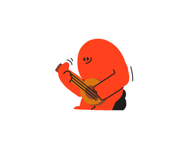 Guitarz color baggie character design music colors procreate character design thecamiloes illustration