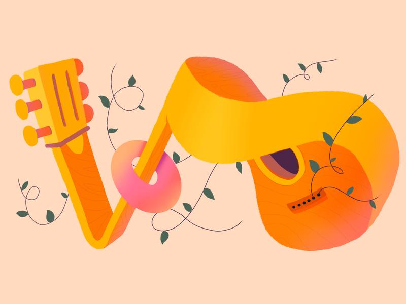 Silverado Days strings guitar music colors procreate thecamiloes illustration
