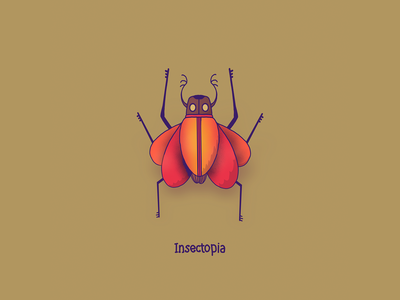 Bug 1 bugs insects insect character design colors design character thecamiloes procreate illustration