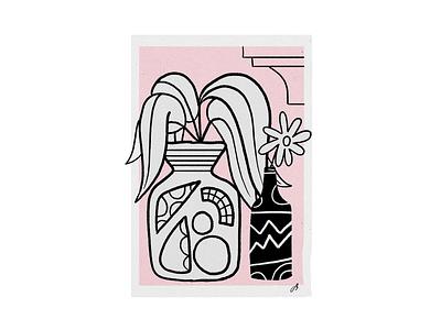 La Brisa plants flower vase ipad procreate thecamiloes illustration
