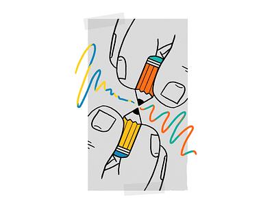 Collaboration colors design procreate thecamiloes illustration collab collaborate collaboration