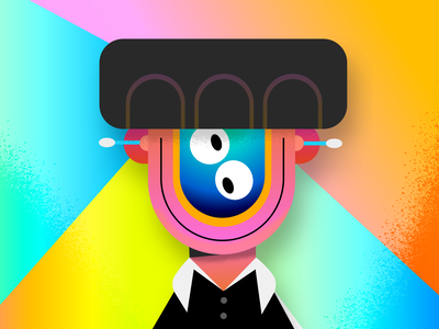 Bonjour! qtip abstract color character design music colors design character thecamiloes illustration