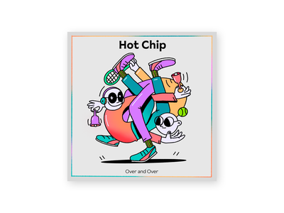 Hot Chip - Over and Over overandover hotchip ipad color character design music colors design character procreate thecamiloes illustration