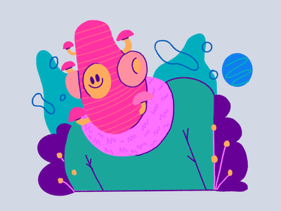 mushy mushroom ipad color character design music colors design character procreate thecamiloes illustration