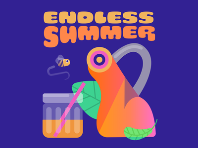 Endless Summer - colorways jar vector music colors design character thecamiloes illustration