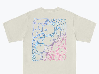 Into Clouds tshirt shirt baggie music colors design procreate character thecamiloes illustration