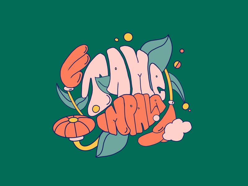 Patience illustration ipad type