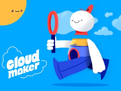 CloudMaker procreate cloudmaker clouds thecamiloes character illustration