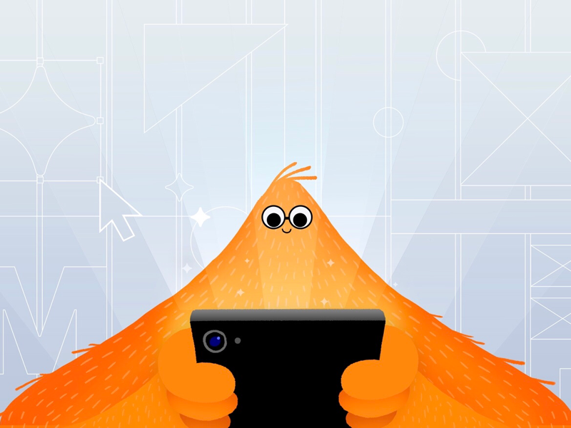 Interactive Design ux wireframes ui ipad iphone orange monster mobile illustration