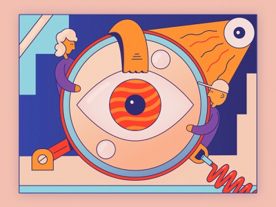 Monocle Eye monocle eye color design illustration