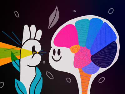Microvision brain color thecamiloes character illustration