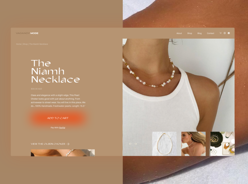 Vacancy Mode Jewellery Shop Page