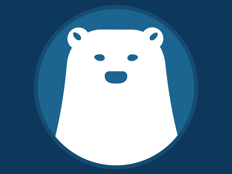 I Polar Bear 2020 flat icon branding logo vector design illustration