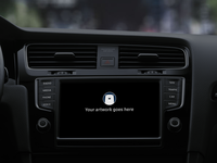 Carplay Wide Mockup PSD Freebie