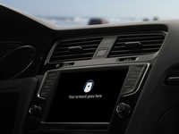 Carplay Wide Side View PSD Freebie