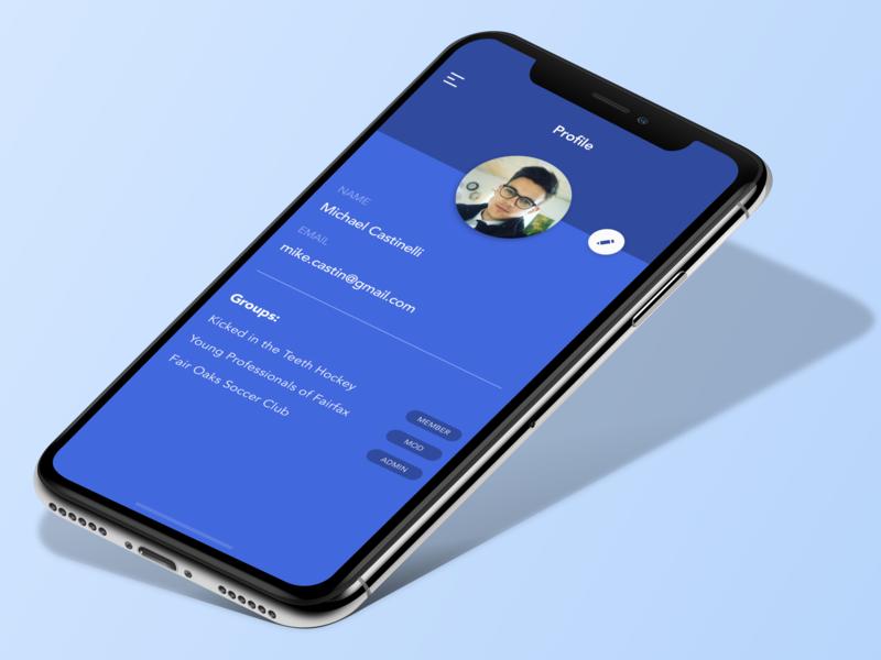 App Profile Screen design uiux psd uxui sketch mockup app ux ui