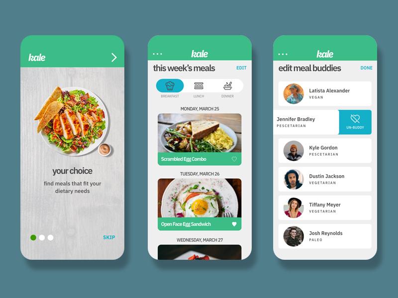 Kale App Concept concept app app design ux design ui design ux ui design ux