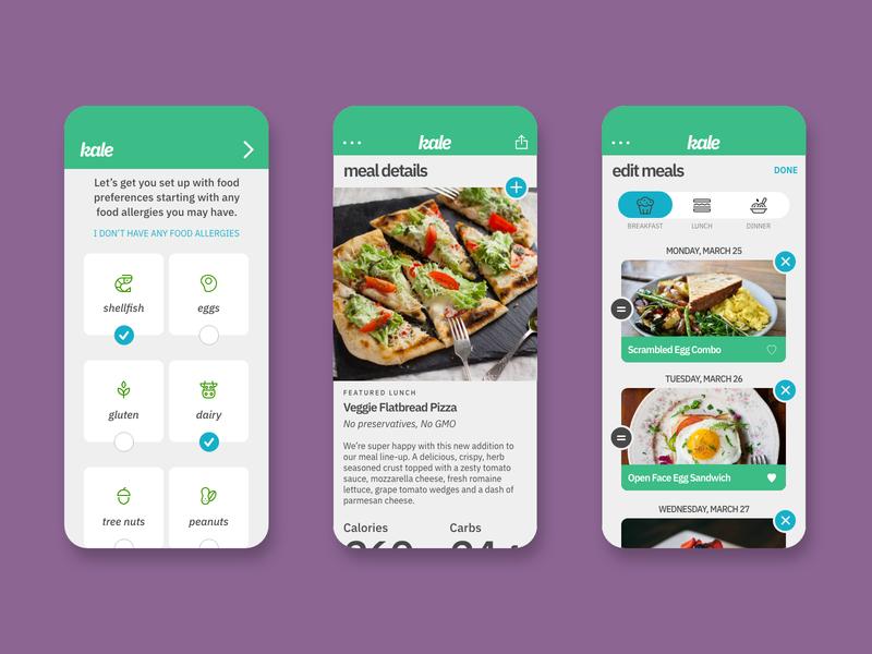 Kale App Concept ux design ui design concept design mockup app ux ui