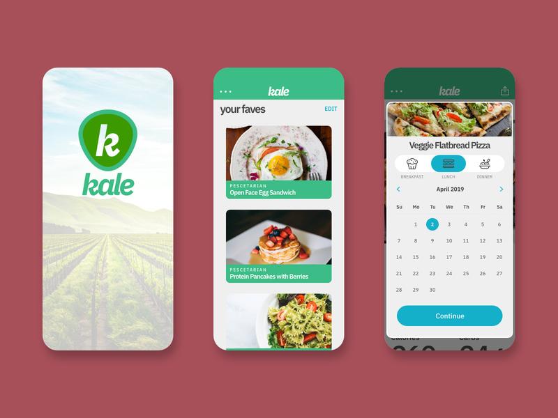 Kale App Concept concept app concept mockup app ux design ui design ux ui