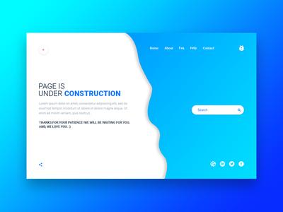 Under Construction- PSD Template