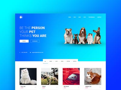 Pet Shop - PSD Template