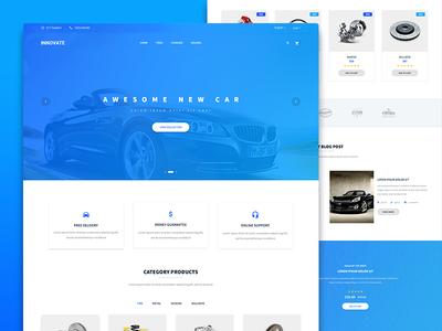 Car Parts – PSD Template