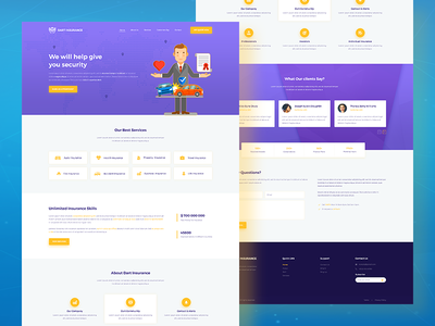 Dart Insurance – PSD Template