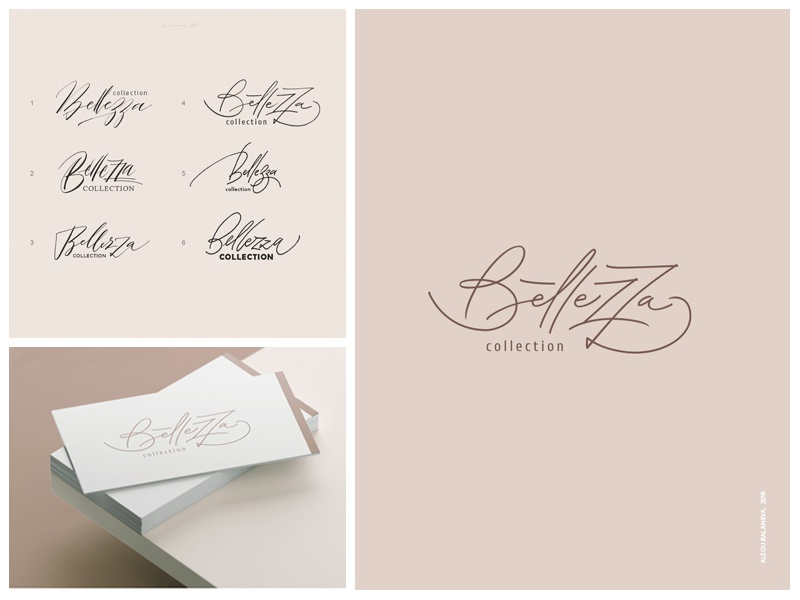 Bellezza lettering calligraphy logotype design logo