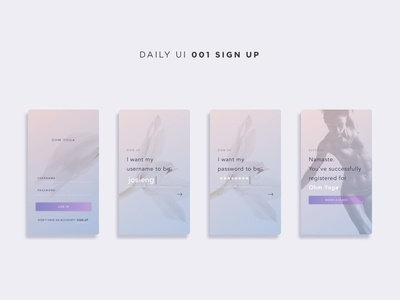 Daily UI Challenge: 001 Sign Up
