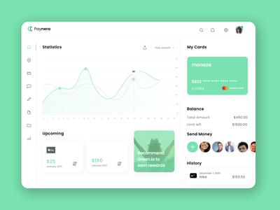 Dashboard Interface Design | Payments | UI/UX ui minimal dashboard template interface dashboard app dashboard ui ux design ui design ui  ux payment app payment