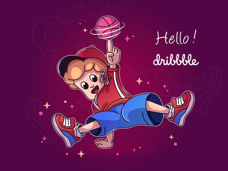 Hello, Dribbble! design illustration