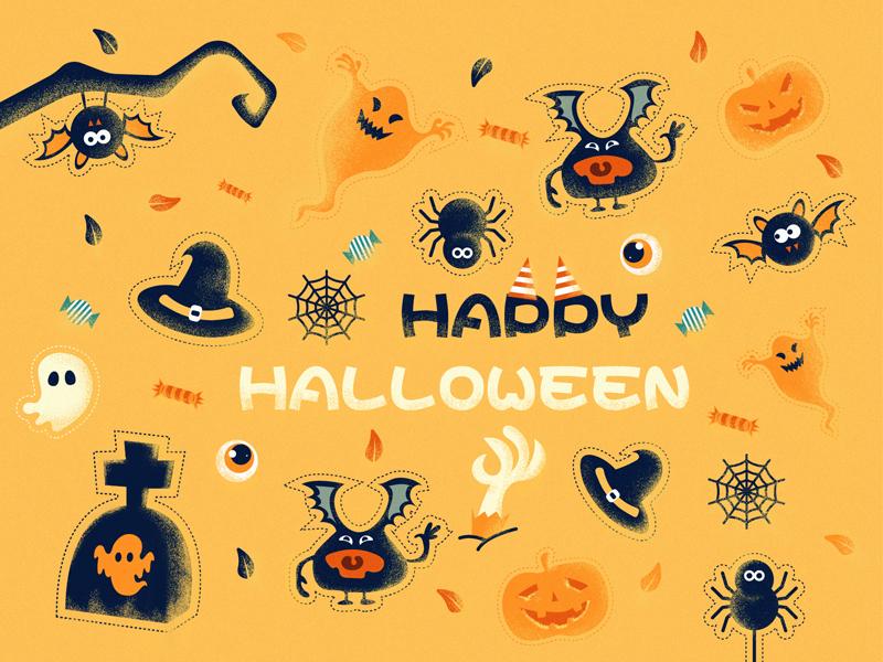 Exercise halloween design illustration
