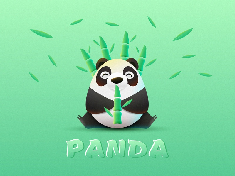 panda design illustration