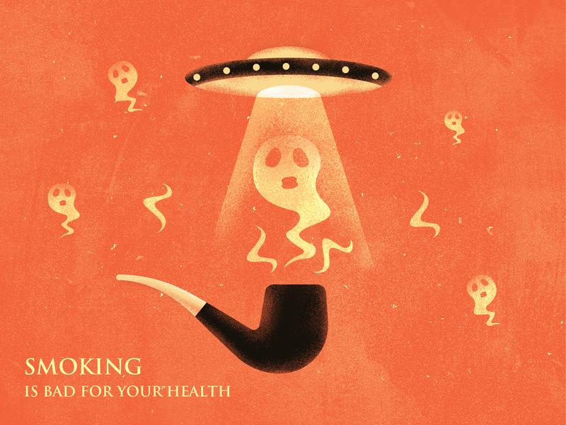 Smoking design illustration
