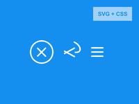 SVG HTML burger svg menu burger icon animated code css3 html5 close