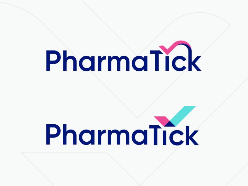 PharmaTick Logo logo design logo check tick pharmatick