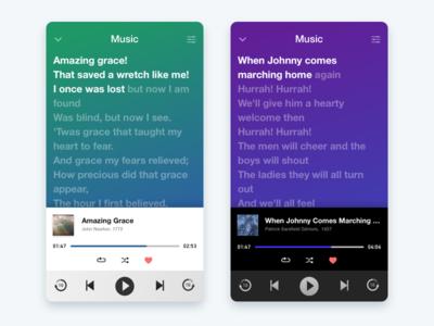 Music Player - Daily UI 009 muic player ui mobile dailyui