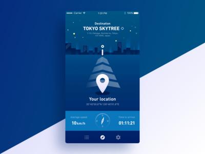Location Tracker - Daily UI 020 location tracker ui mobile screen design dailyui