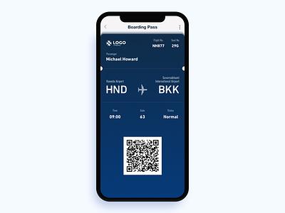 Boarding Pass - Daily UI 024 boarding pass screen icon ui mobile design dailyui