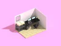 My desk in Voxel