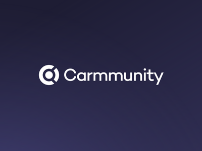 Carmmunity Logo Refresh 2019 [Before & After] blue purple letter c c mark brake caliper wheel enthusiast automotive car clean minimal app icon mark logo mark branding update refresh logo carmmunity
