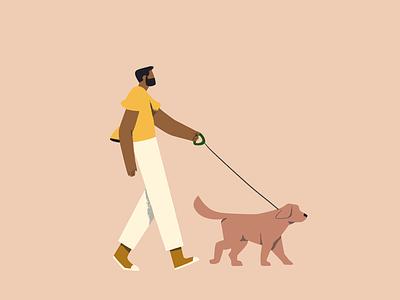 Moving Bodies 03 walking dog illustration